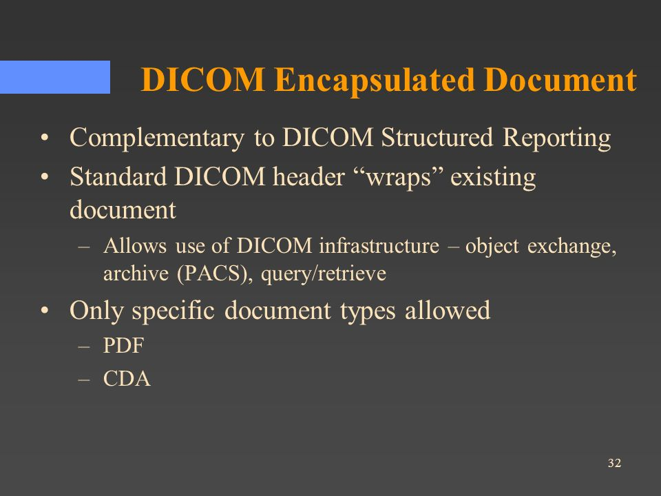 DICOM Encapsulated Document