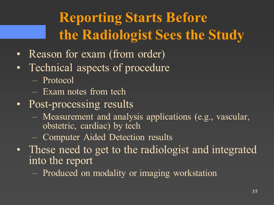 Reporting Starts Before the Radiologist Sees the Study