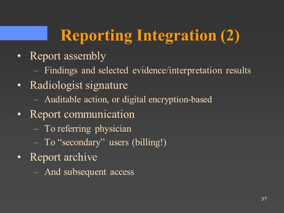 Reporting Integration (2)