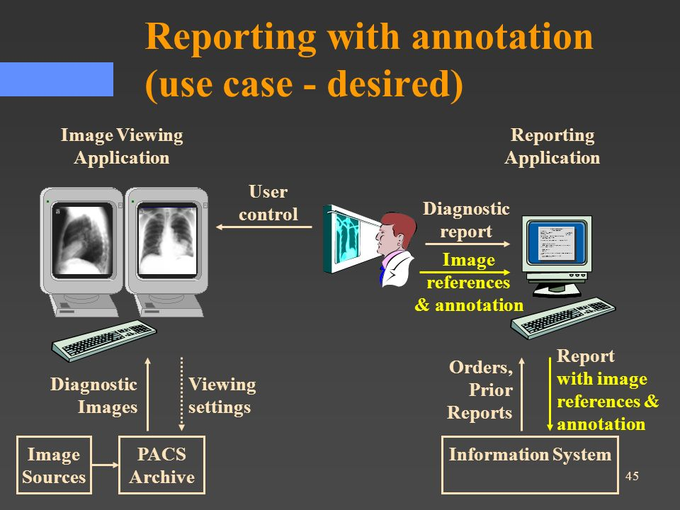 Reporting with annotation (use case - desired)