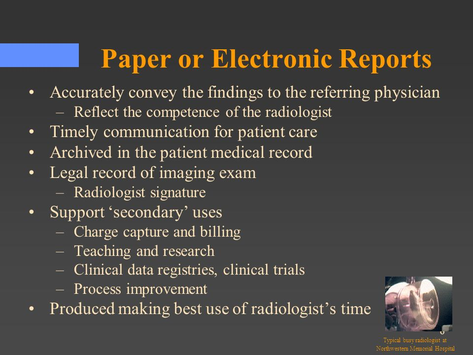 Paper or Electronic Reports