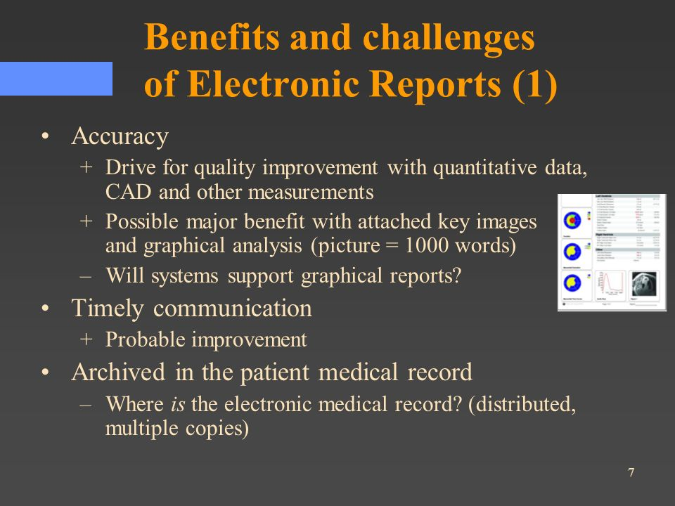 Benefits and challenges of Electronic Reports (1)