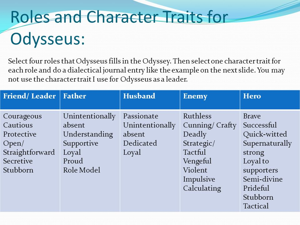 examples of odysseus being a hero
