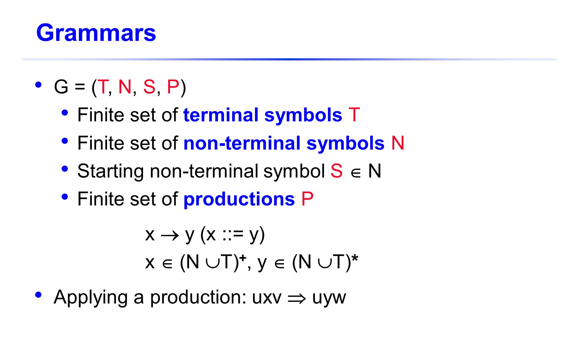 Csc 7101 programming language structures spring ppt video online grammars g t n s p finite set of terminal biocorpaavc