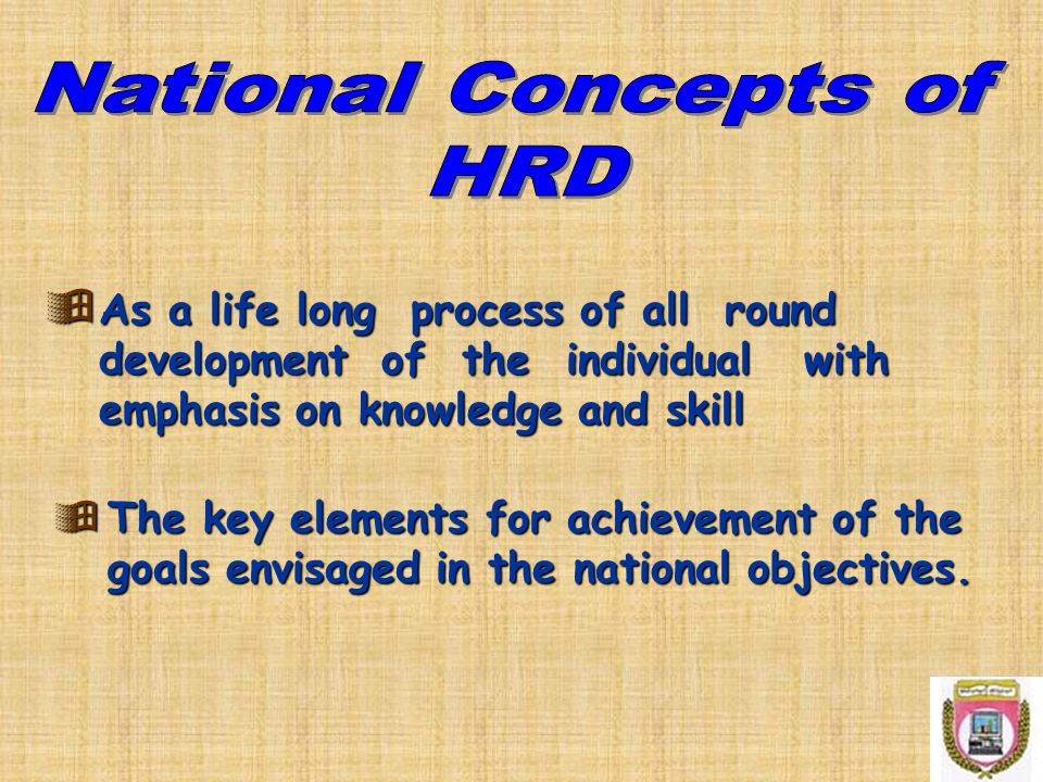 National Concepts of HRD