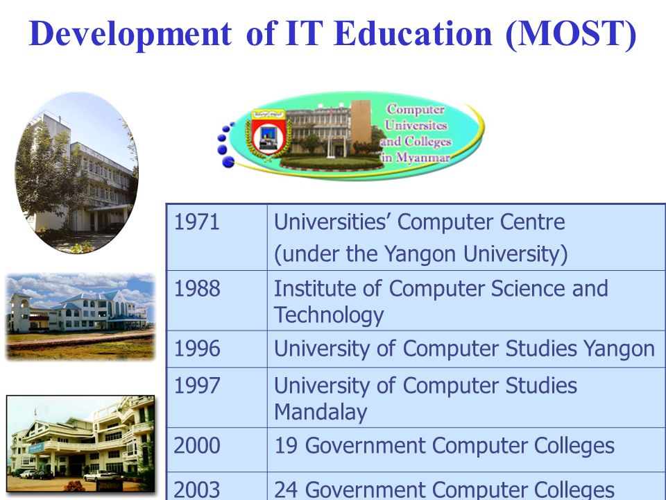 Development of IT Education (MOST)