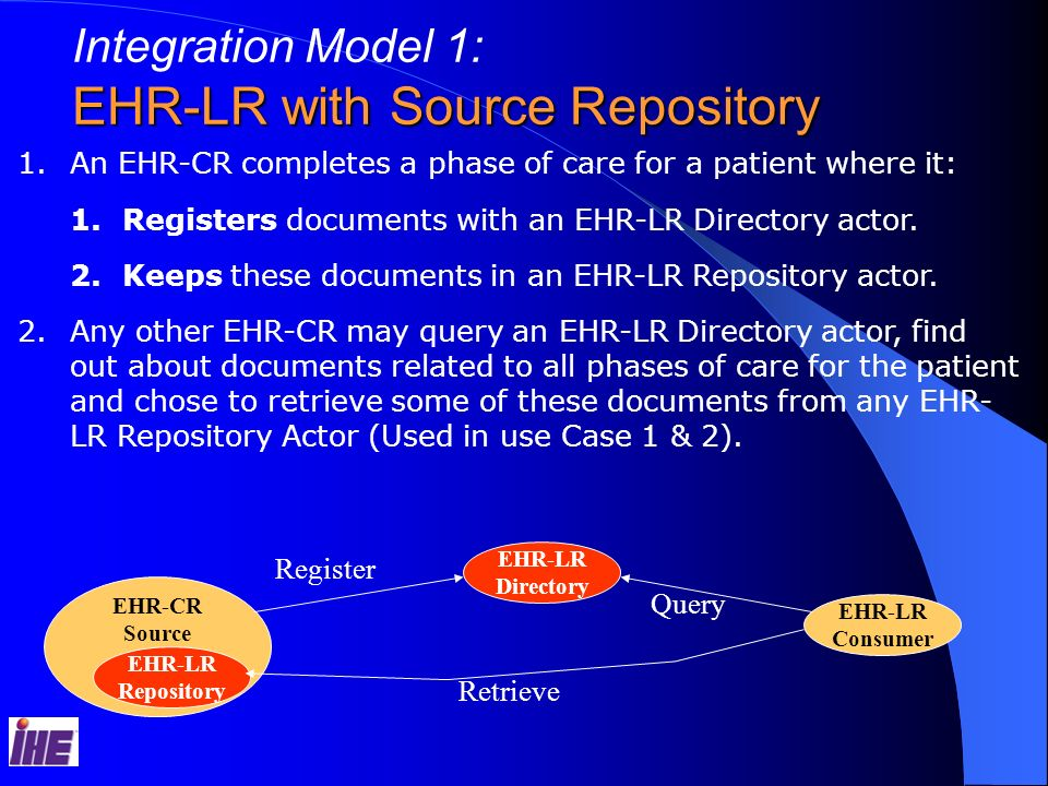 EHR-LR with Source Repository