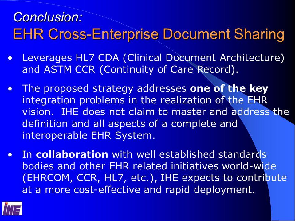 EHR Cross-Enterprise Document Sharing