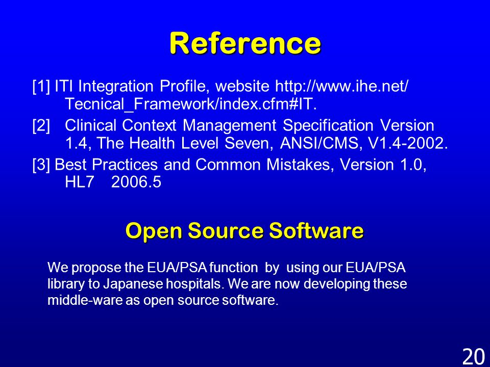 Reference Open Source Software