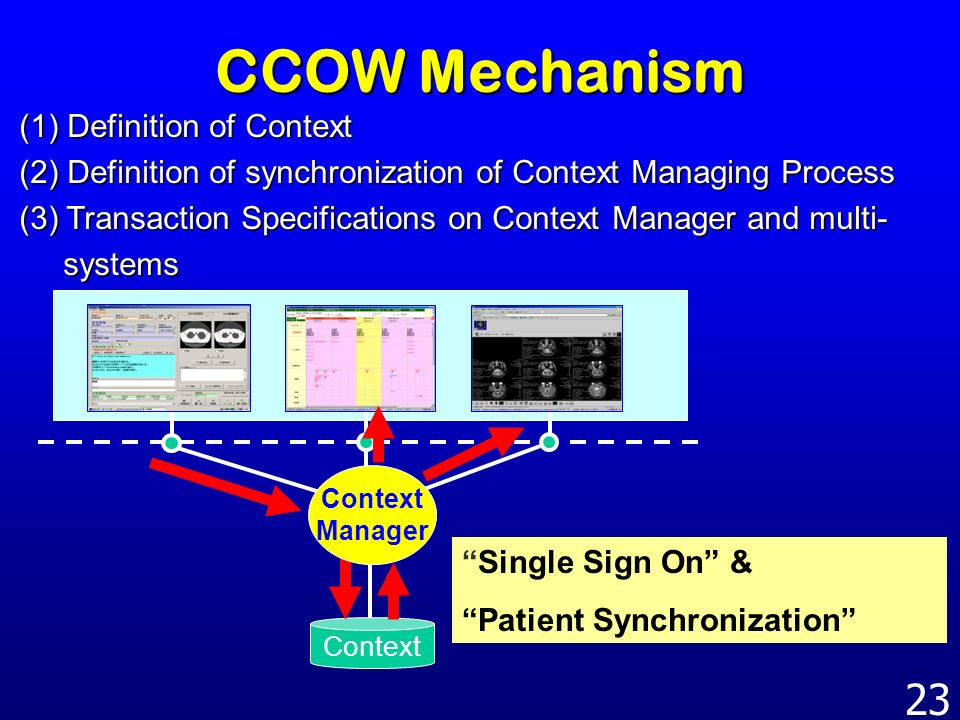 CCOW Mechanism (1) Definition of Context