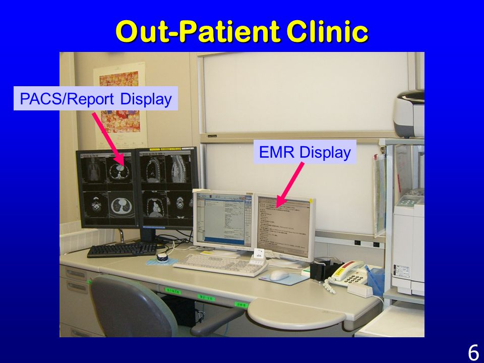 Out-Patient Clinic PACS/Report Display EMR Display