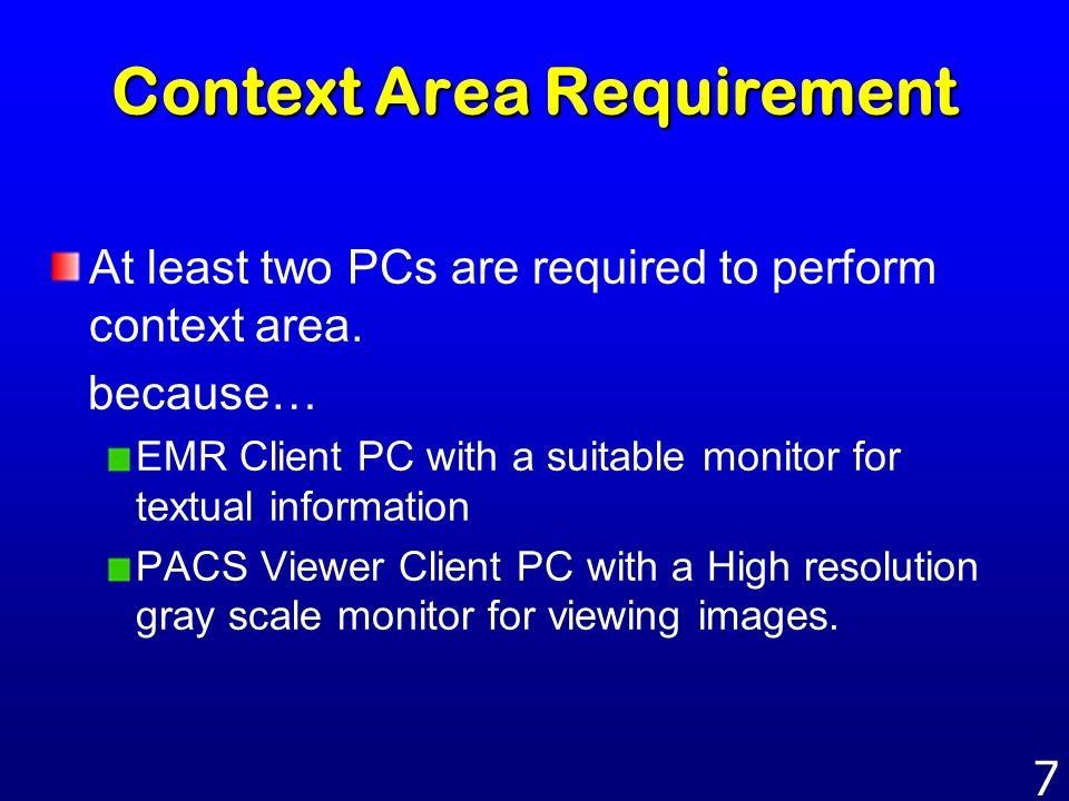 Context Area Requirement