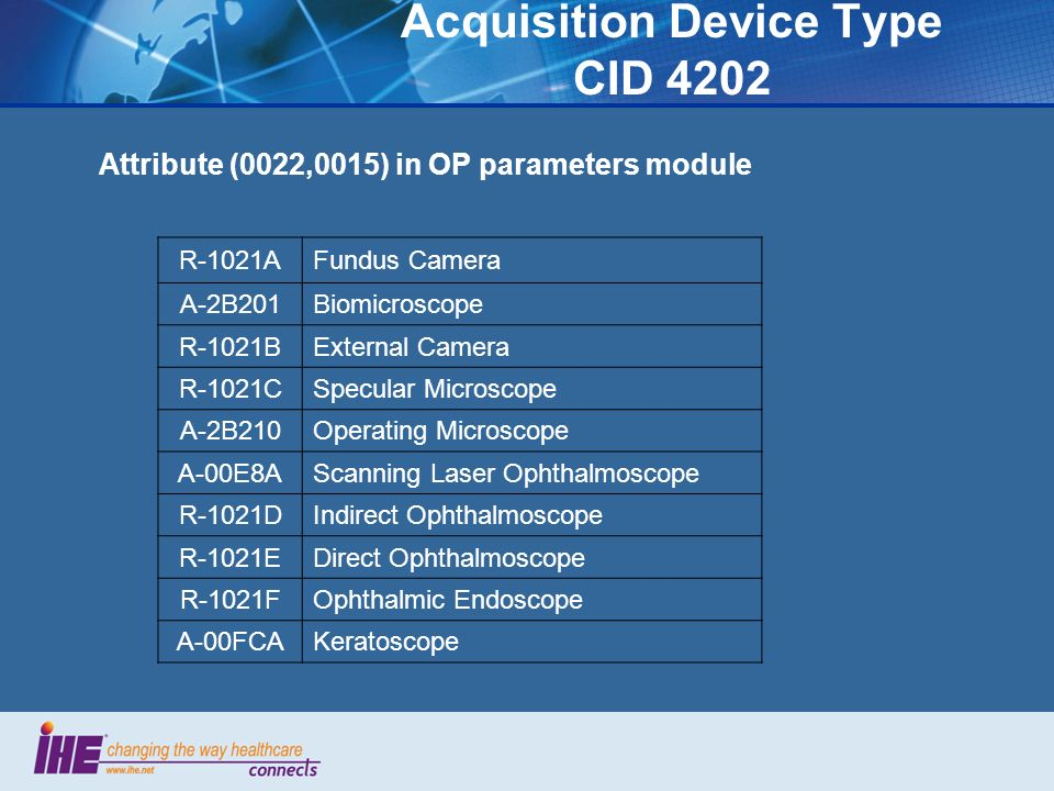 Acquisition Device Type CID 4202