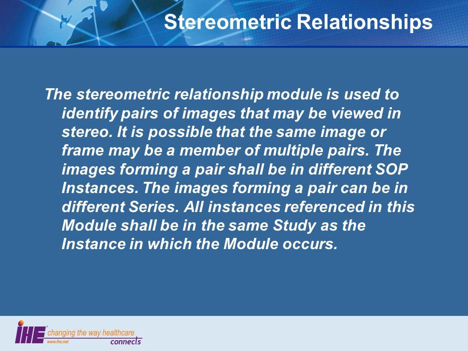 Stereometric Relationships