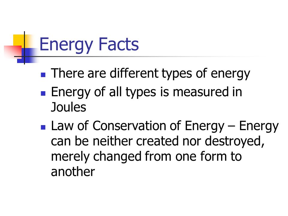 Chapter 5 work energy and power ppt video online download for Facts about energy conservation