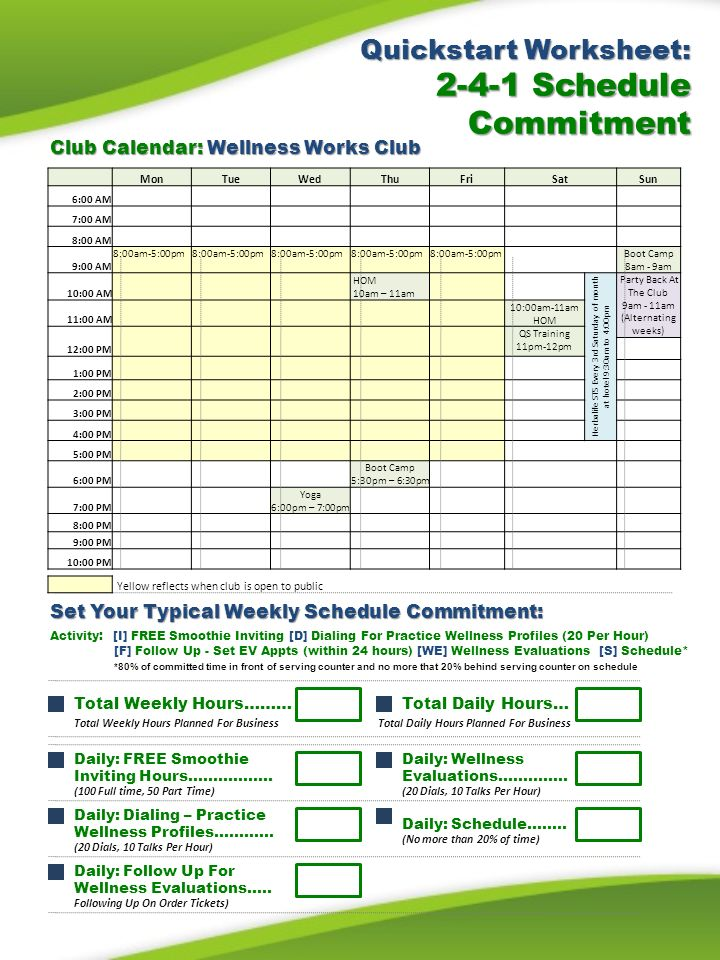 Herbalife Steps To Success: 2-4-1 Steps To Success Quickstart Worksheet: Steps To