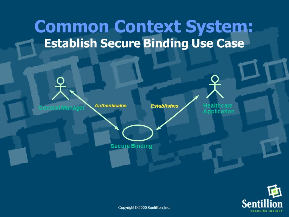 Common Context System: Establish Secure Binding Use Case