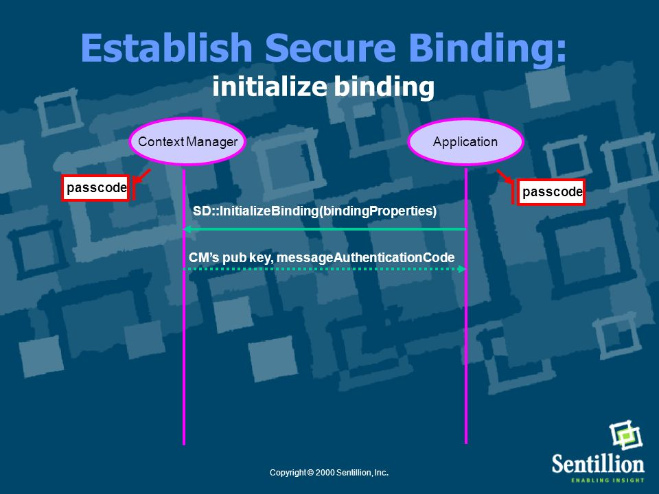 Establish Secure Binding: initialize binding