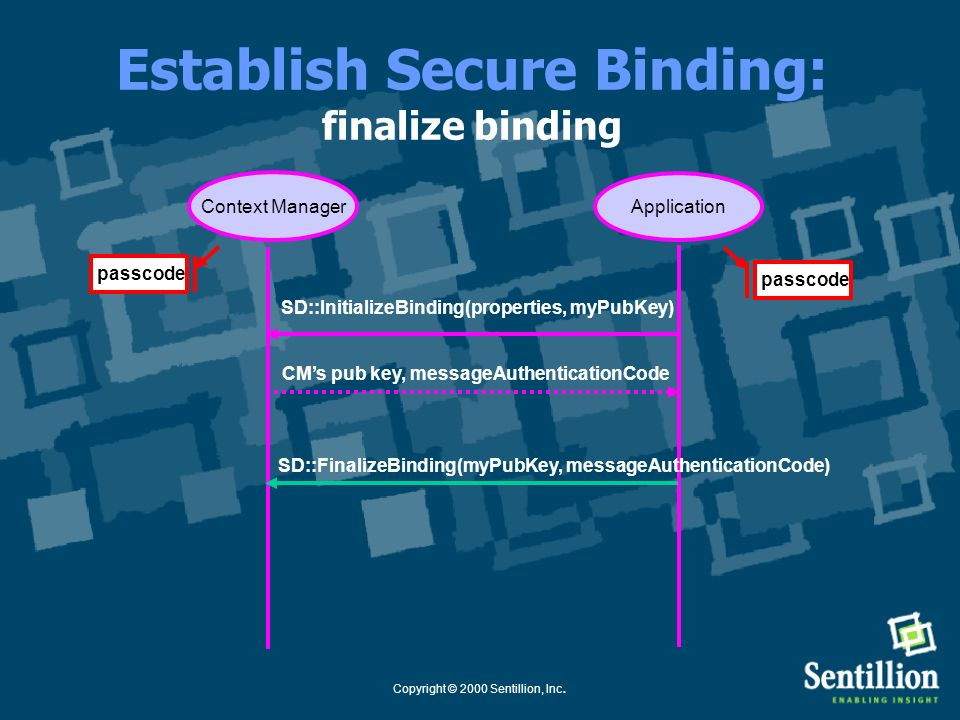 Establish Secure Binding: finalize binding