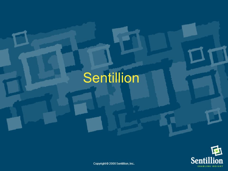 Copyright © 2000 Sentillion, Inc.