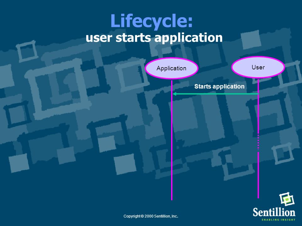 Lifecycle: user starts application