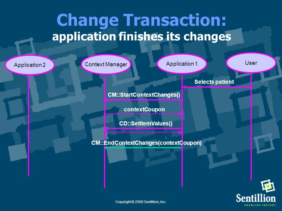 Change Transaction: application finishes its changes