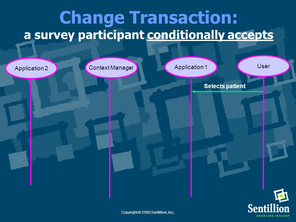 Change Transaction: a survey participant conditionally accepts