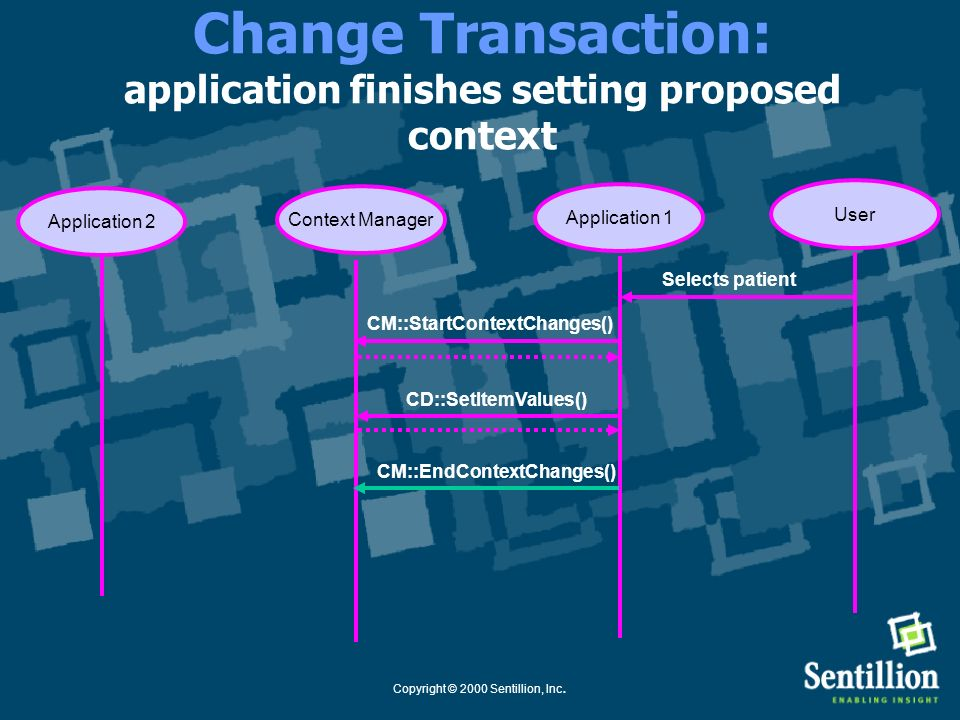 Change Transaction: application finishes setting proposed context