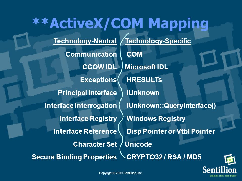 **ActiveX/COM Mapping