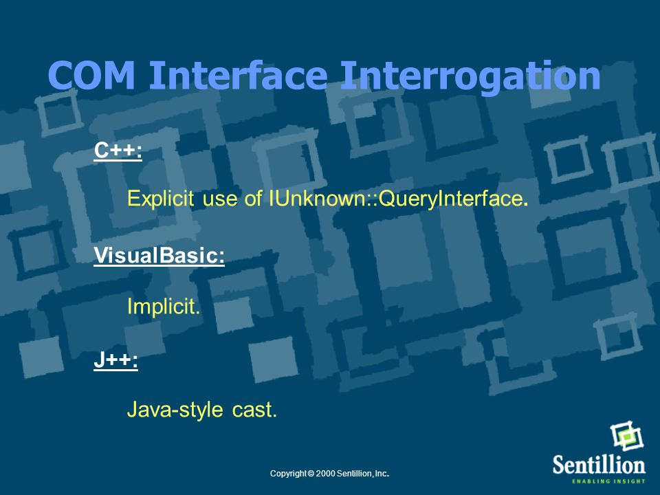 COM Interface Interrogation