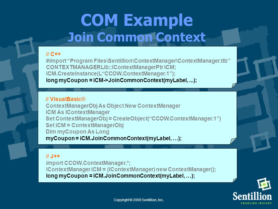 COM Example Join Common Context