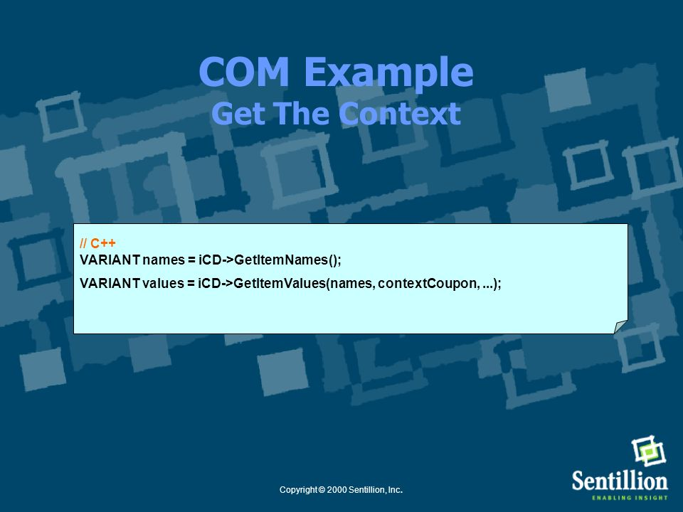 COM Example Get The Context