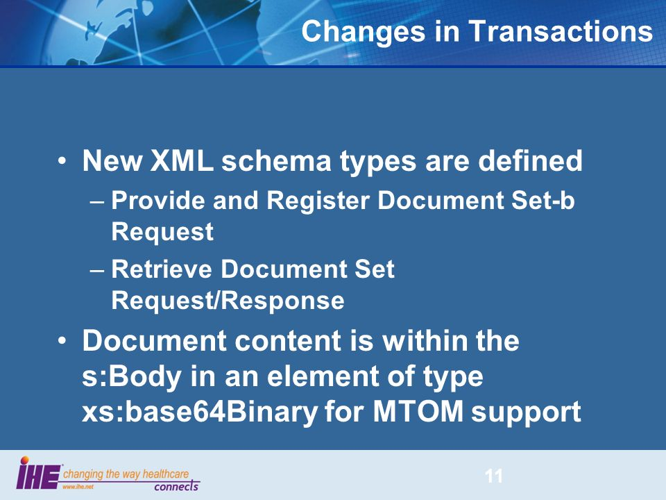 Changes in Transactions