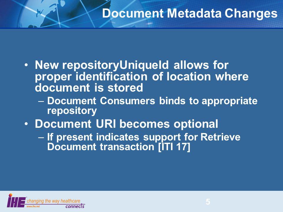 Document Metadata Changes