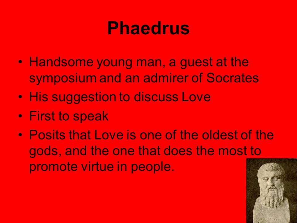 argument between love and desire in platos symposium Plato's symposium is arguably the most memorable philosophical work ever written on the subject of love it is also the inspiration for leonard bernstein's gorgeous violin concerto, the serenade.