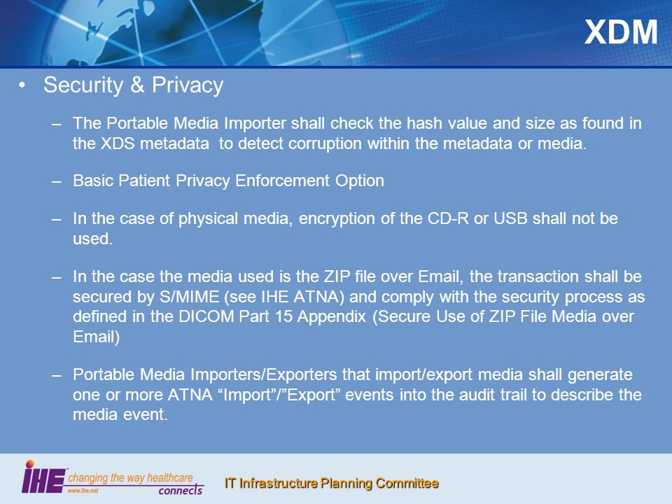 XDM Security & Privacy.