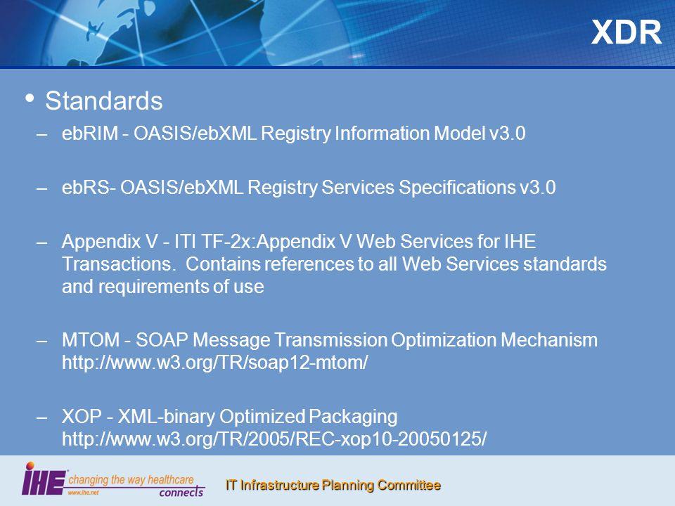 XDR Standards ebRIM - OASIS/ebXML Registry Information Model v3.0