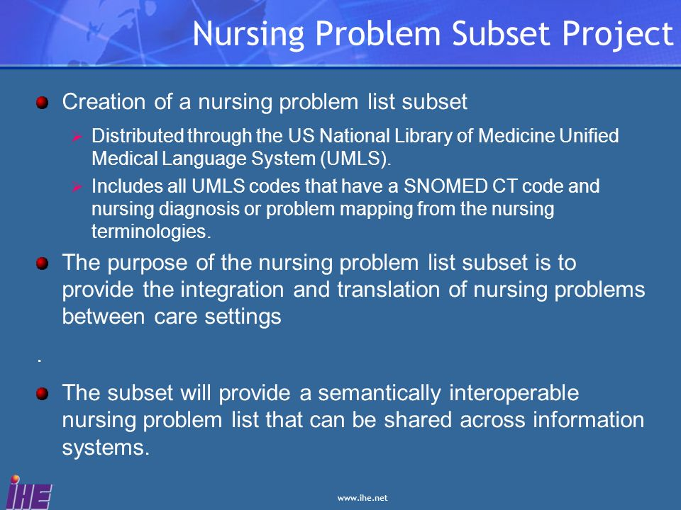 Nursing Problem Subset Project