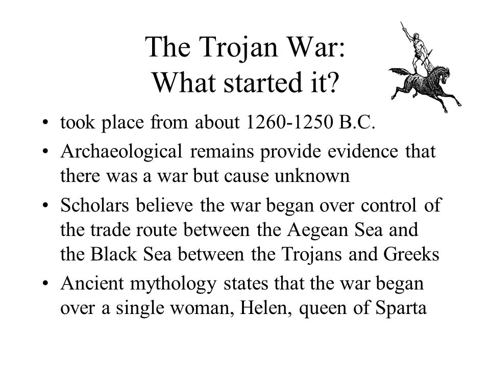 Evidence for the Trojan War.