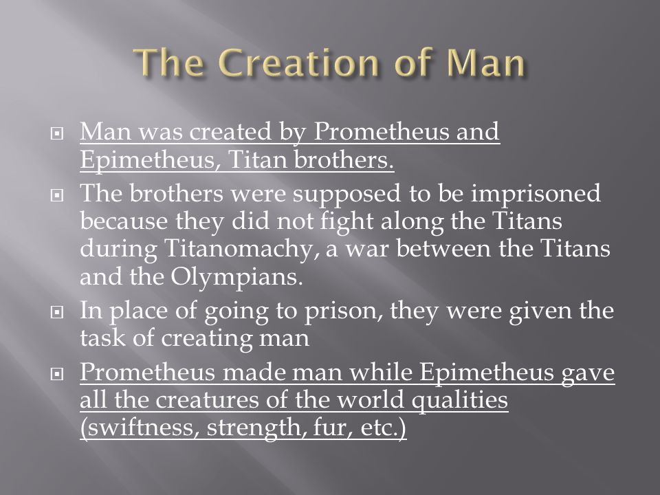 """prometheus creation sacrifice and giving life essay Mary shelley originally intended to title her novel """"the modern prometheus""""   this bargain was to give the better parts of the sacrificed animals to prometheus'  humans and to  prometheus and frankenstein are linked together through  creation and  victor originally makes the monster to fill the void of people in his  life."""