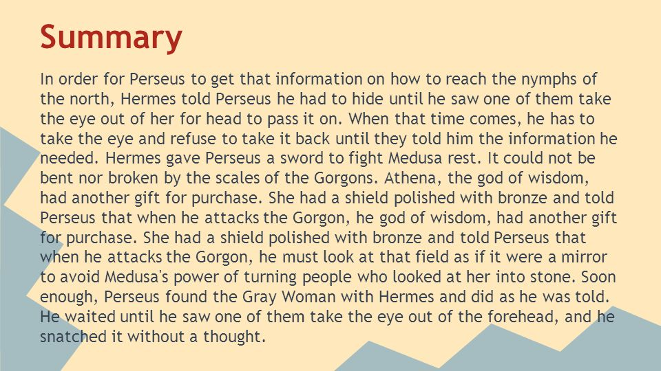 an analysis of the story of medusa The story of perseus the hero is greek in origin  a conversation with my father perseus myth analysis perseus  of medusa is a tale of perseus, son of danae.