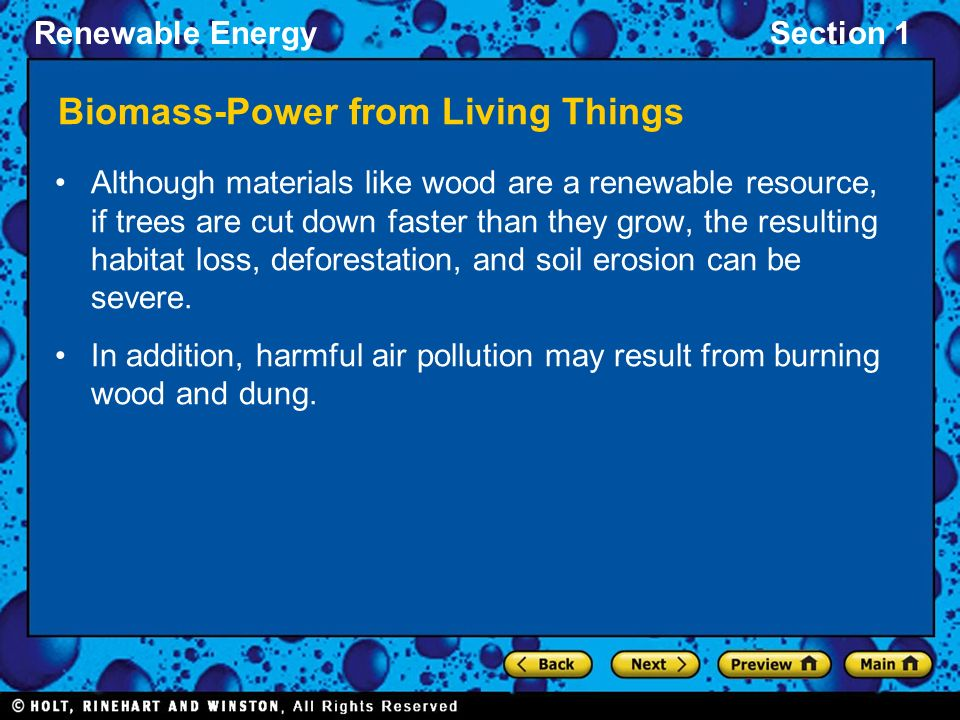 Biomass-Power from Living Things