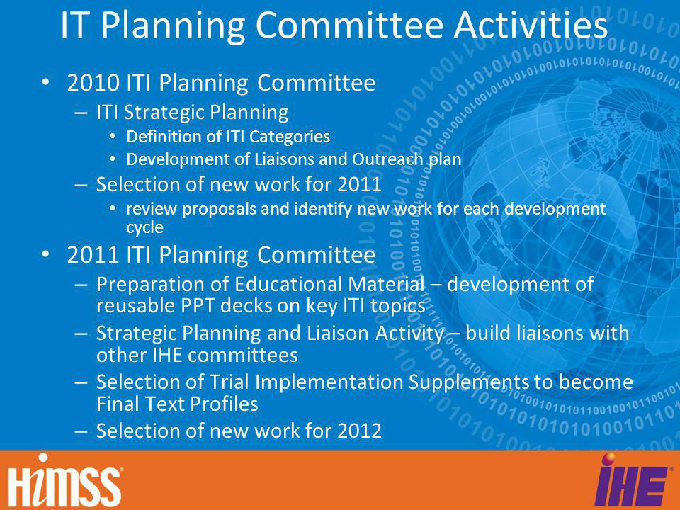 IT Planning Committee Activities