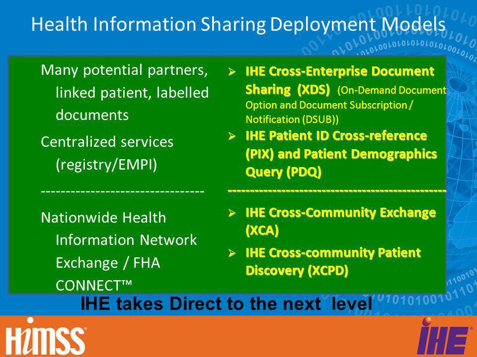 Health Information Sharing Deployment Models
