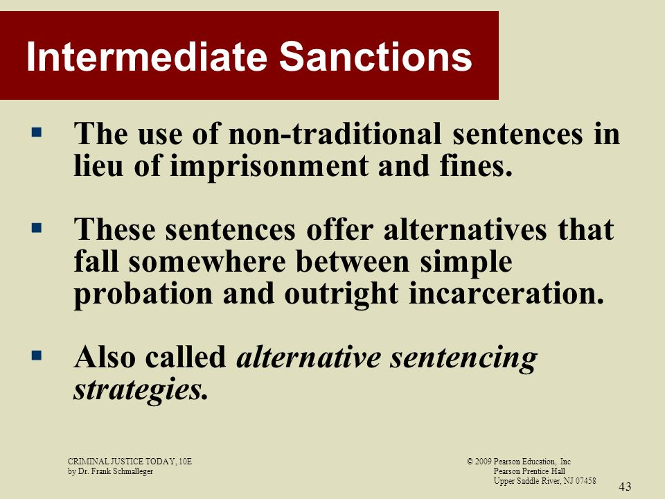 intermediate sanctions and shock probation essay Start studying probation and intermediate sanctions learn vocabulary, terms, and more with flashcards, games, and other study tools.