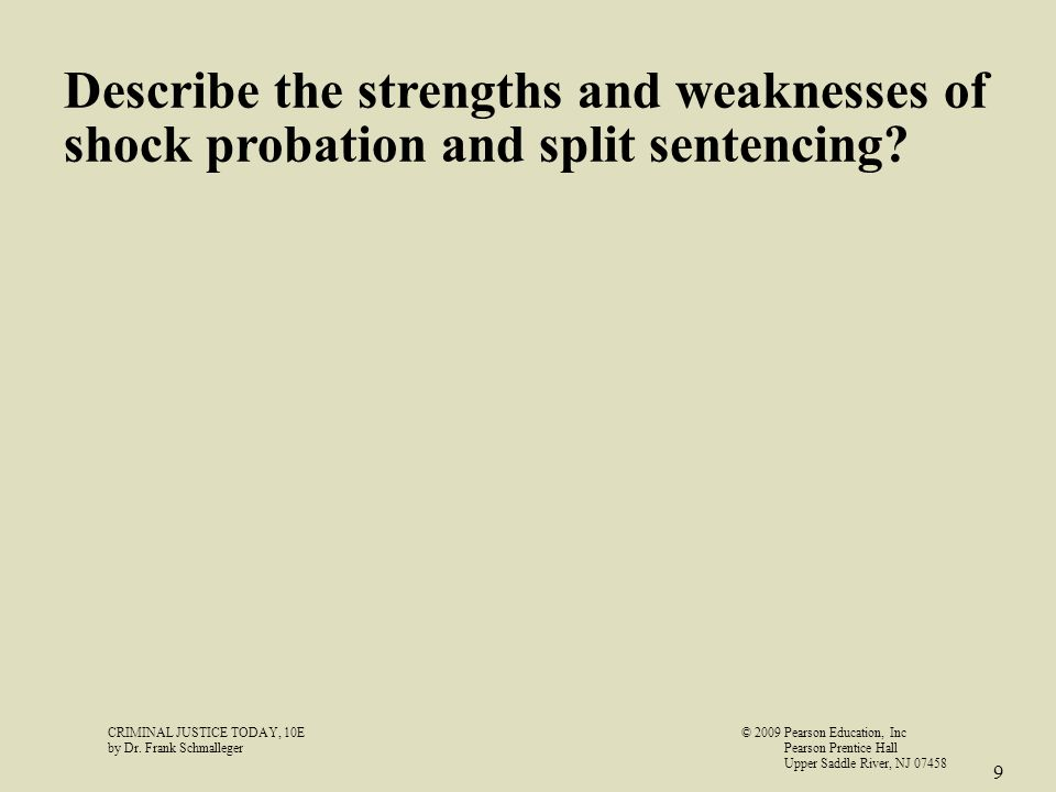 intermediate sanctions and shock probation essay Criminology term papers (paper 42253) on the pros and cons of boot camps: otherwise known as shock incarceration, boot camps became prevalent in the 1980s these facilities provide intermediate sanction in the jargon of juvenile justice.