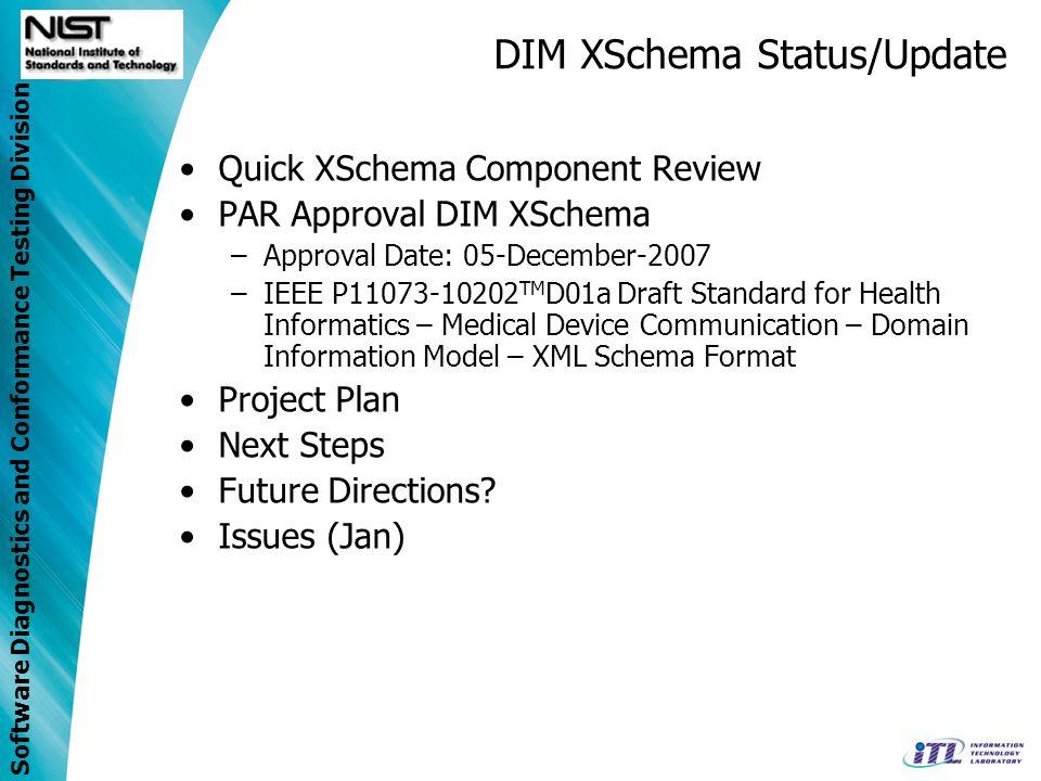 DIM XSchema Status/Update