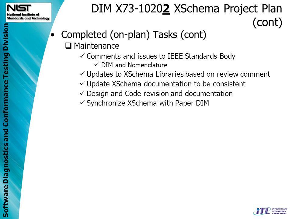 DIM X73-10202 XSchema Project Plan (cont)