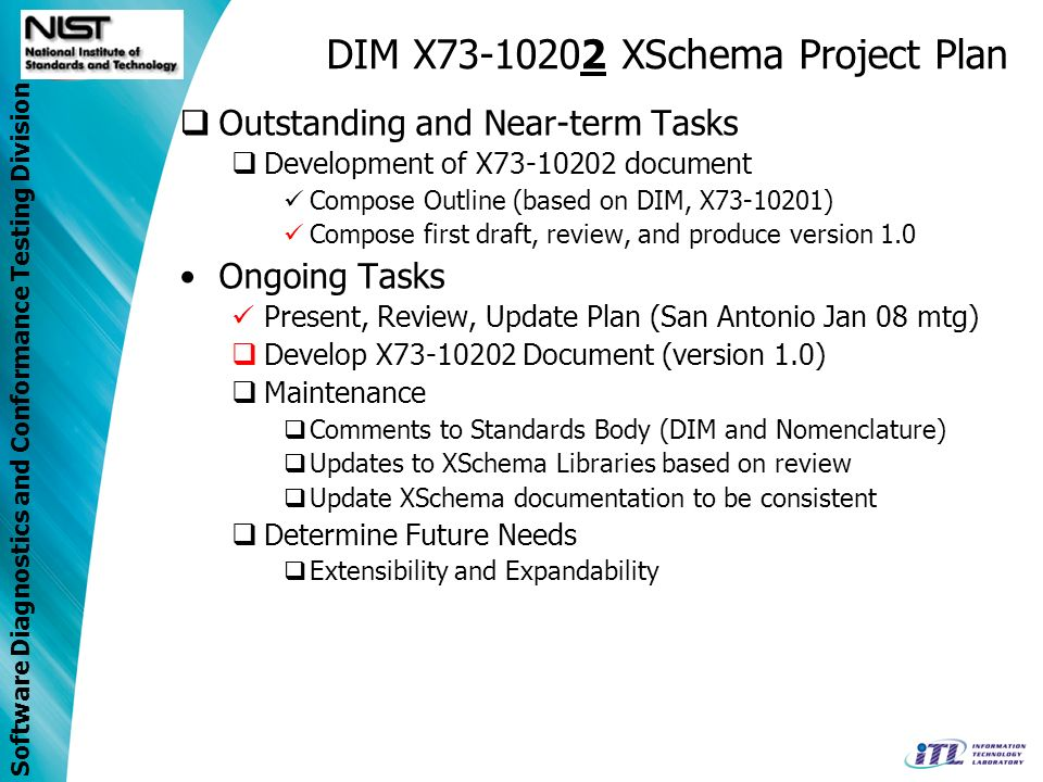 DIM X73-10202 XSchema Project Plan