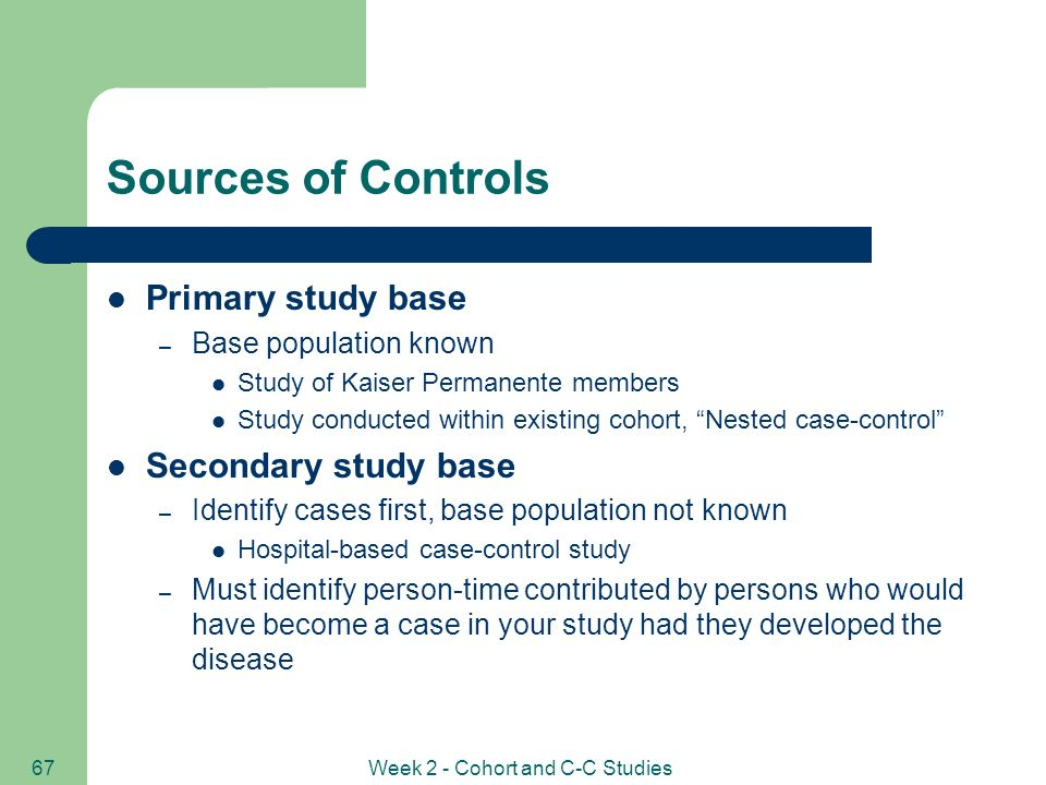 population based case control study advantages Explain the importance of using specific diagnostic criteria and explicit case definitions in case-control  population-based case-control study:  advantages of.